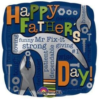 "Foil Balloon - happy Father' sDay - Mr. Fix It - 18"""