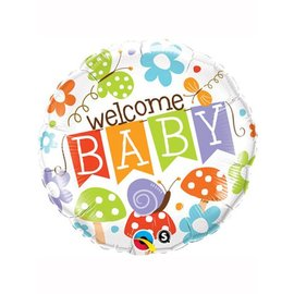 """Foil Balloon - Welcome Baby - 18"""""""