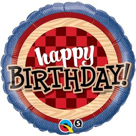 "Foil Balloon - Happy birthday - 18"""