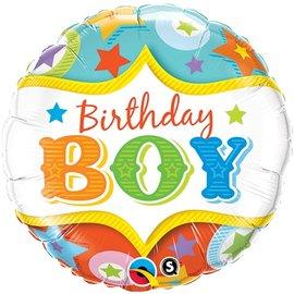 "Foil Balloon - Birthday Boy - 18"""