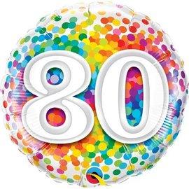 Foil Balloon - 80 Confetti