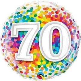 Foil Balloon - 70 Confetti