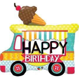 Foil Balloon - Happy Birthday Ice Cream Truck
