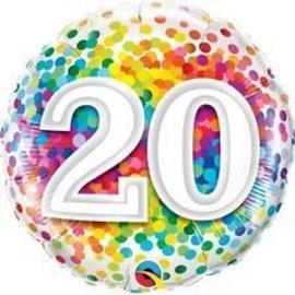 Foil Balloon - 20 Confetti