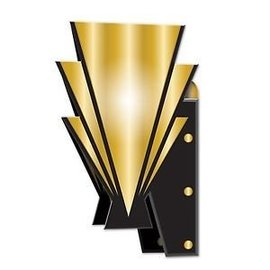 Great 20's 3-D Wall Sconces-15''