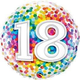 Foil Balloon - 18 Confetti
