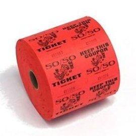 Ticket Roll 50/50 Orange - 1000 Tickets