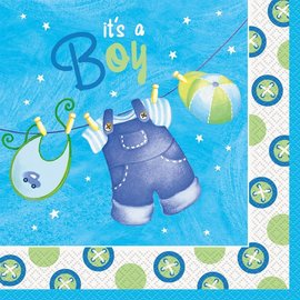 Napkins-LN-It's a Boy Clothing-16pk-2ply- Discontinued
