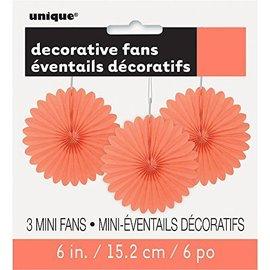 Mini Fans - Coral