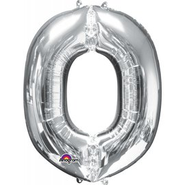 Foil Balloon - #0 Silver