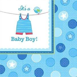 Napkins-LN-It's a Boy Cloth-16pk-2ply