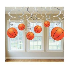 Swirl Decorations - Basketball