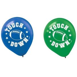 Latex Balloons - Football-12''-6pk