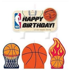 Birthday Candle Set - Basketball-4pk