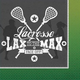 Napkins - LN - Lacrosse - 16pc