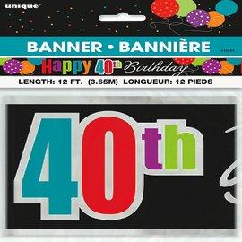 Banner-40th HBD-Foil-12ft