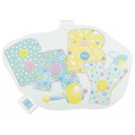 Plastic Cutout-Baby Stitching Blue-20''
