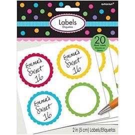 Labels-Scalloped-Rainbow-20pk/2''