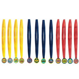 Award Medals Assorted-12pk