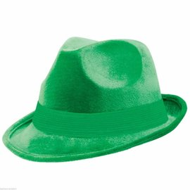Fedora Hat-Green-Fabric