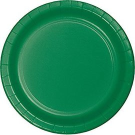 Value Pack Festive Green Paper Plate 75count