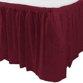 """Table Skirt-Rectangle-Burgundy-Plastic-29x168"""""""