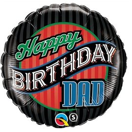 Foil Balloon - Happy Birthday Dad - 18""