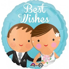 Foil Balloon-Best Wishes Wedding-18''