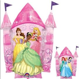 Foil Balloon-Disney Princesses Castle-2 sided-26''x35''