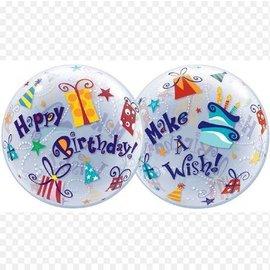 Bubble Balloon-Happy Birthday and Make a Wish-22''