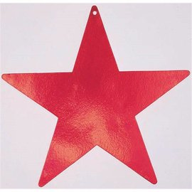 Cutouts-Star-Red-12''-Foil
