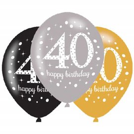 Packaged Latex Balloon-Celebration 40 HBD-12''-15pk