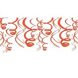 Swirl Decorations 12pc Orange 22""