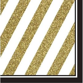 Napkins-LN-Black and Gold-16pk-3ply - Discontinued