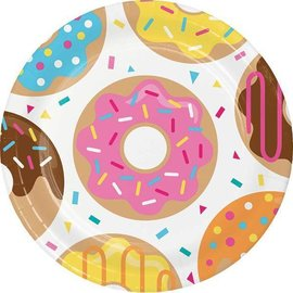 """Luncheon Paper Plates- Donut Time- 8pk-9"""""""