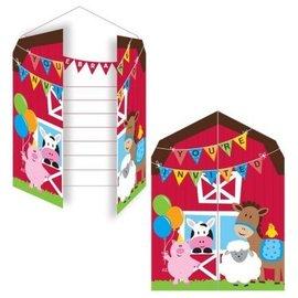 Invitations-Farmhouse Fun-Pop out-8pk