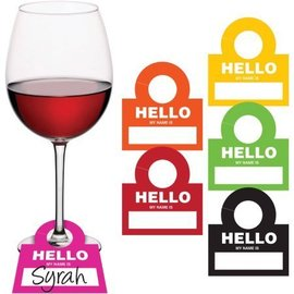 Drink Tags-Hello My Name is___-12pk