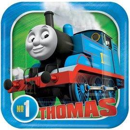 Plates-BEV-Square-Thomas All Aboard-8pk-Paper
