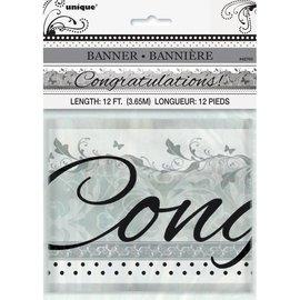 Foil Banner-Wedding Congratulations-12ft