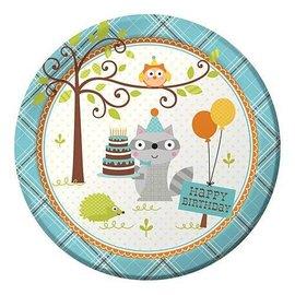 Plates-LN-Happi Woodland-Boy-8pk-Paper