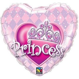 Foil Balloon-Princess party Heart-18''
