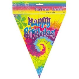 Banner- 60th Groovy- HBD-12ft-Plastic