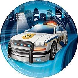 Plates-BEV-Police Party-8pk-Paper
