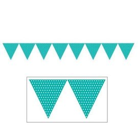 Banners-Teal Lagoon Dots-9ftx6.25in