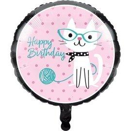 Foil Balloon-Cat Purr-Fect Party-18''