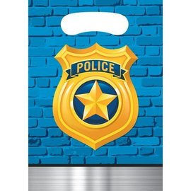 Loot Bags-Police Party-6.5''x9''-8pk