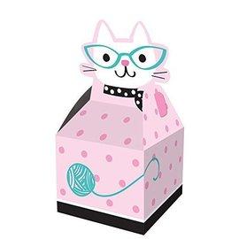 Favor Box-Cat Purr-Fect Party-3.5''x3.5''x9.15''-8pk