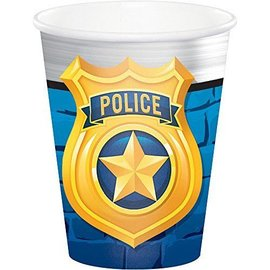 Cups-Police Party-9oz-8pk-Paper