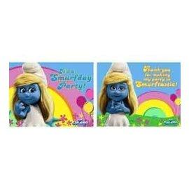 Invitations-Smurfs (Discontinued)-8pk