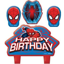 Candle Set-Spider Man-4pk